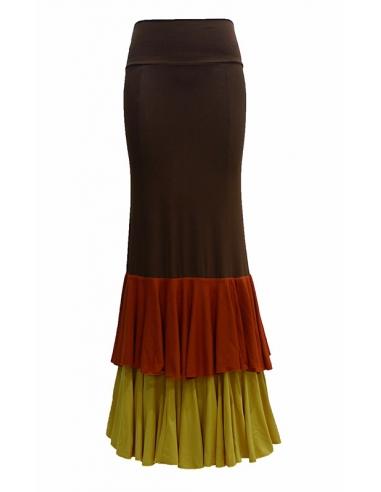 https://www.fabricaflamenca.com/467-thickbox_default/falda-con-dos-volantes-anchos-color-canela-terracota-ambar.jpg