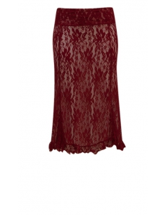 LACE OVERSKIRT, RED COLOR